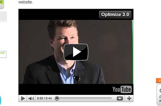 Optimized YouTube video player on Optimize 3.0 resized 600